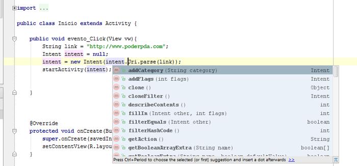 Editor de código inteligente