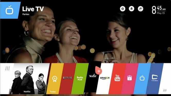 Interfaz de webOS en SmartTV