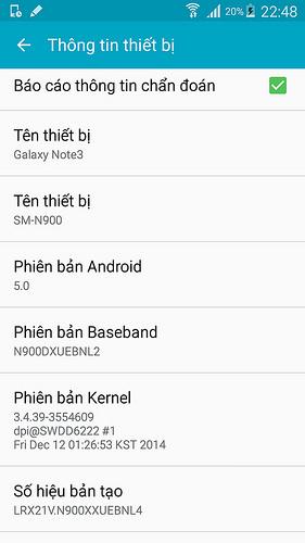 Android 5.0 en el Galaxy Note 3