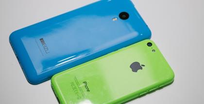 meizu m1 note vs iphone 5c-1