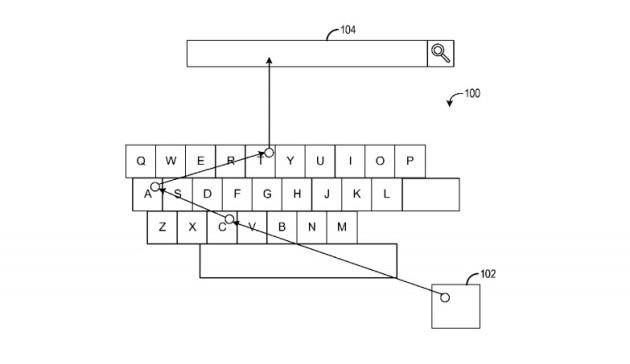 Patente del teclado de Microsoft controlado por la vista