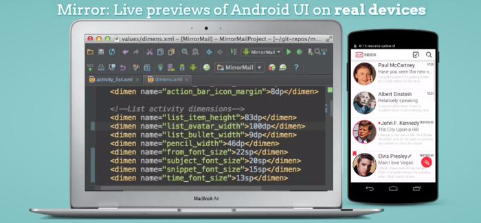 Lo modificado en el texto se aprecia en la pantalla del dispositivo