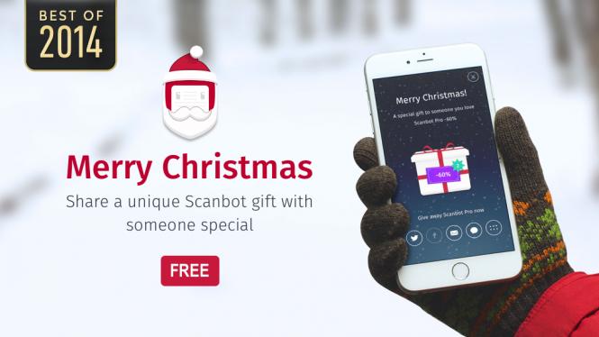 Scanbot Pro ofrece un 60% de descuento por las fiestas navideñas.