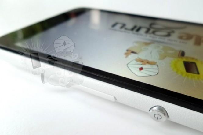 Xperia E4 con el botón característico de la marca