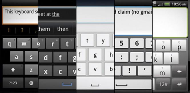 Existen muchas variedades de teclados en smartphones, y todos apoyan a mejorar la interacción cerebro-dedos.