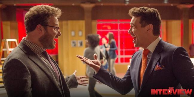 """Seth Rogen y James Franco en """"The Interview"""""""