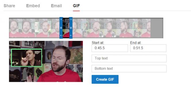 Herramienta de creación de GIFs directamente en YouTube