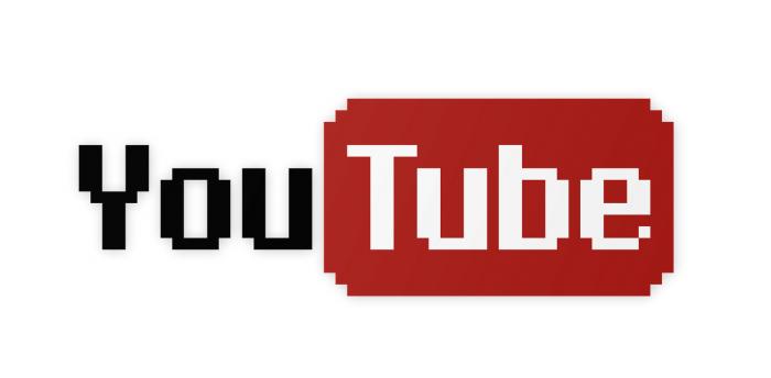 youtube logo pixelated