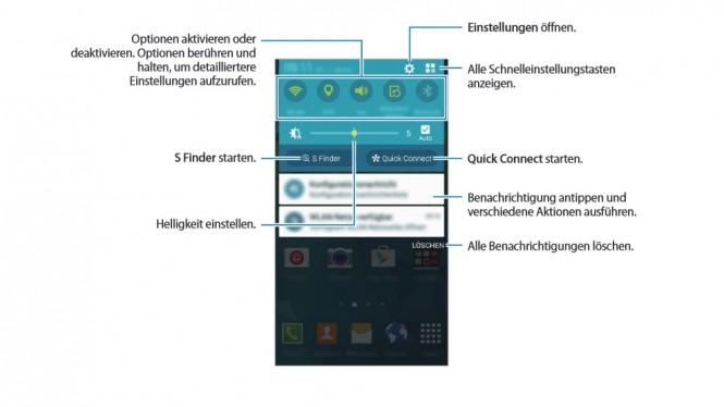 La barra de notificaciones del Galaxy Note 4 recibirá un lavado de cara por completo.