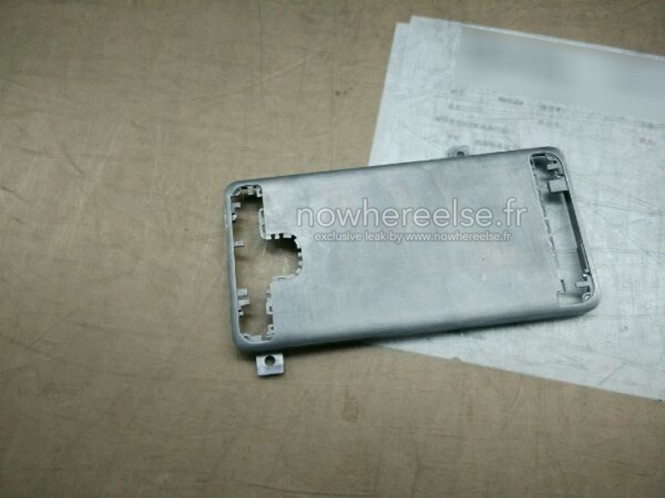 Supuesto cuerpo metálico del Samsung Galaxy S6