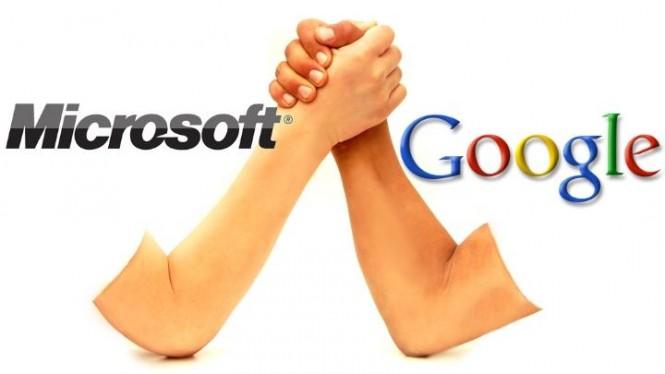 Microsoft y Google® han tenido diferencias últimamente debido a diferencias de políticas.