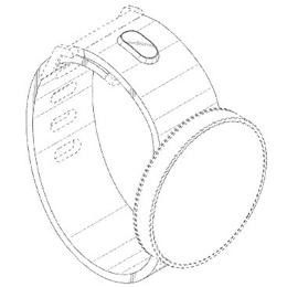 Posible prototipo del reloj circular de Samsung