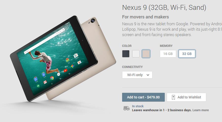 Nexus 9 Color Arena