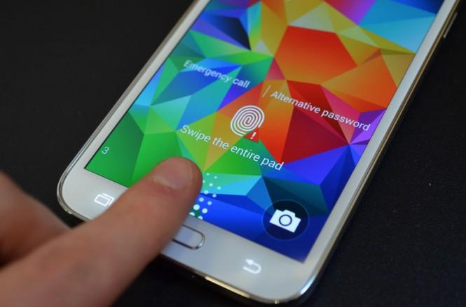 Lector de huellas dactilares en el Samsung Galaxy S5