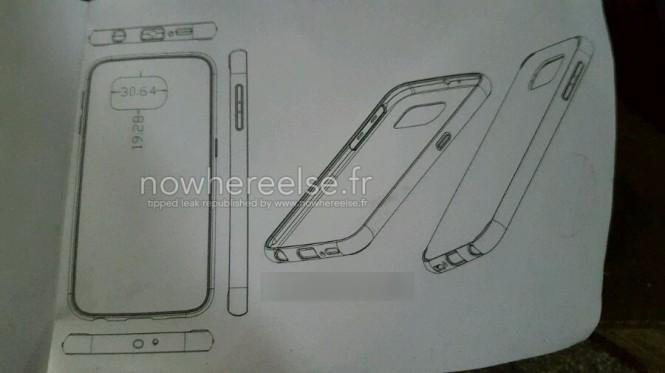 Esquema de una funda diferente para el Samsung Galaxy S6