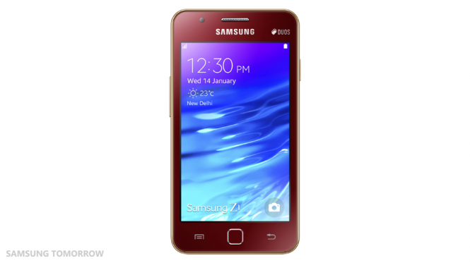 Samsung_Z1_Front_Red