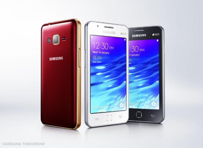 Samsung Z1 en sus 3 opciones de color
