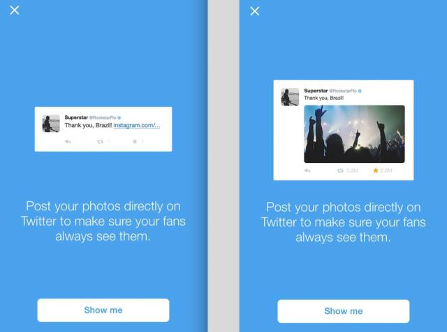 Twitter sugiere evitar usar Instagram