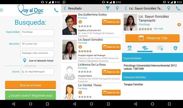 Voy-al-doc-app-android