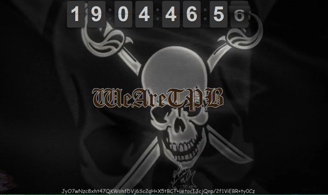 Al parecer la cuenta regresiva de la página de The Pirate Bay es para reanudar el servicio.