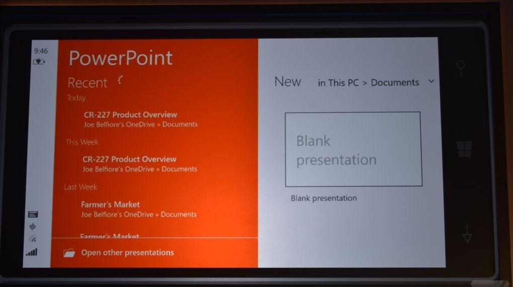 Windows 10 para moviles power point