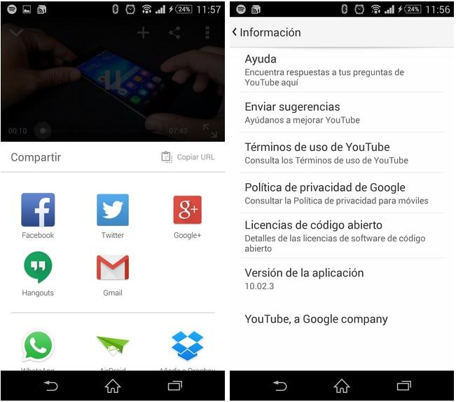 YouTube 10 ofrece la posibilidad de realizar busquedas por voz y renueva el menú de compartir.