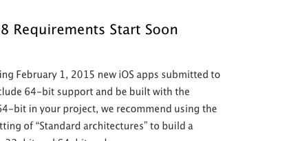 apple ios 64 bits