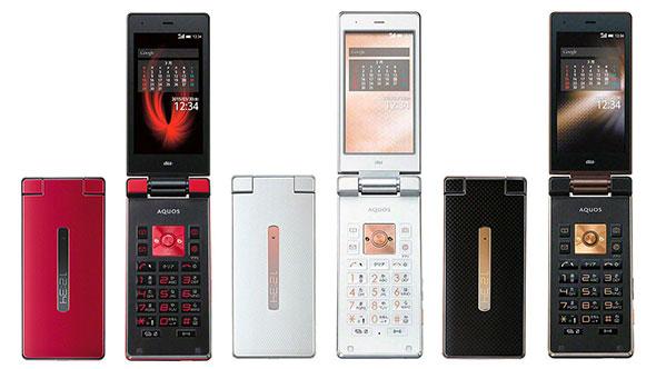 El Aquos K es un teléfono de folder con Android como sistema operativo.