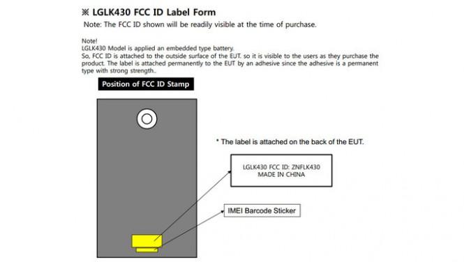Documentación de la FCC mostrando datos de una tablet LG