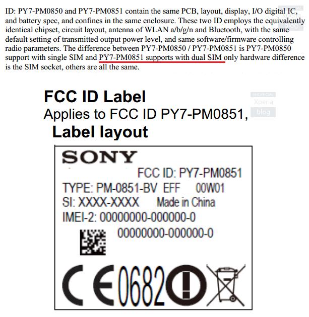 Documento de la FCC sobre el posible Xperia Z4 Dual