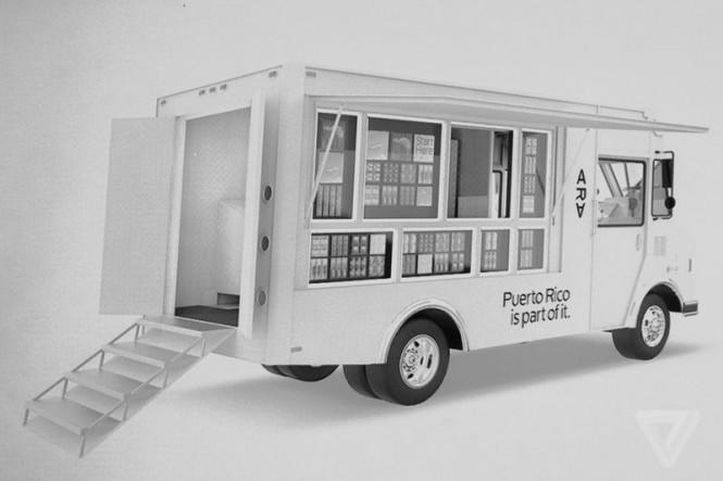 """Tienda estilo """"food truck"""" para comercializar el teléfono de Project Ara"""
