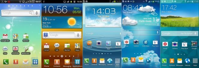 Evolución de la pantalla de inicio de TouchWiz