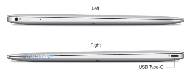 Únicos puertos en la supuesta MacBook Air 12