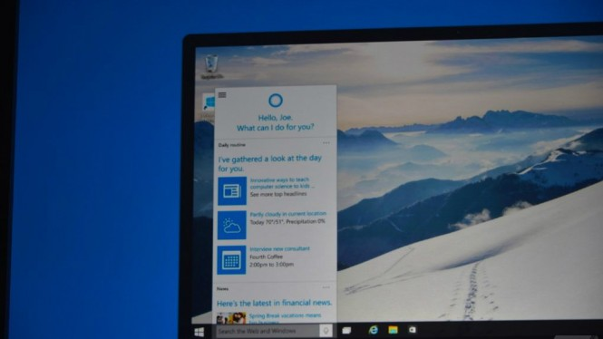 Cortana integrada en Windows 10