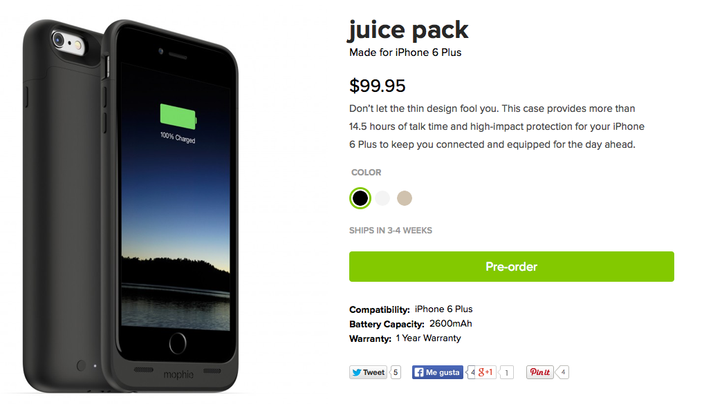 mophie juice pack iphone 6 plus