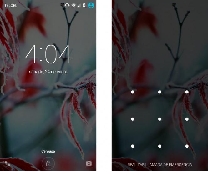 La pantalla de bloqueo también sufrió cambios en esta actualización