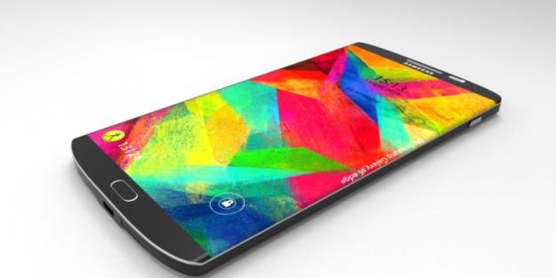 Imagen de un teléfono conceptual del Galaxy S6 con pantalla curvada en ambos lados