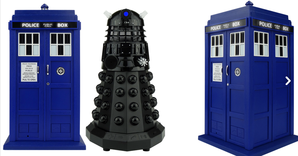 Bocinas inalambricas en forma de Dalek y Tardis