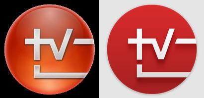 TV SideView logotipo anterior (izquierda), logotipo actual (derecha)