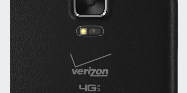 verizon logo on galaxy note edge