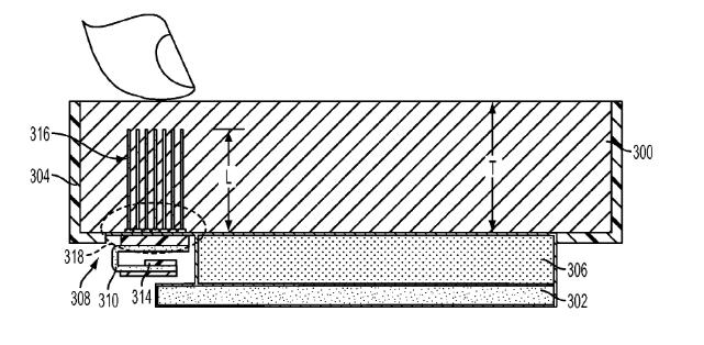 Imagen del archivo de patente registrado por Apple
