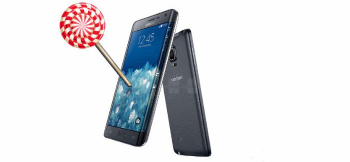 Galaxy Edge Android Lollipop