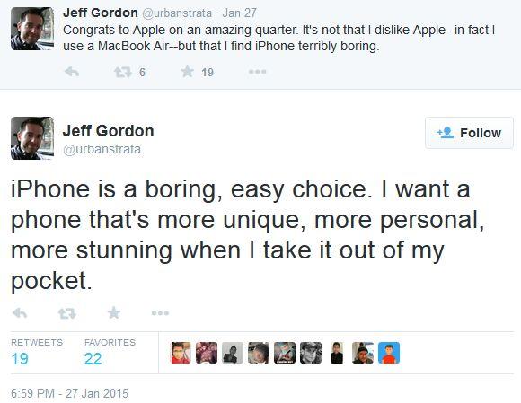 Declaraciones de Jeff Gordon a traves de su cuenta de twitter