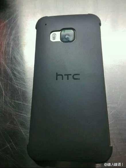 Parte trasera del HTC One M9 con cubierta Dot View
