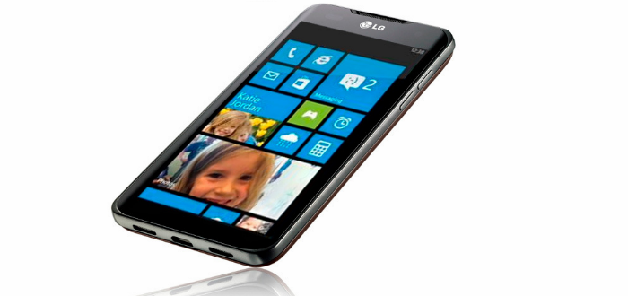 Imagen ilustrativa de equipo LG con Windows Phone