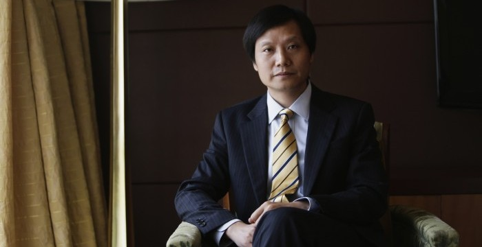 Lei Jun, founder and CEO of China's mobile company Xiaomi, poses for photo ahead of an interview in Chengdu