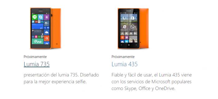 Lumia 435 aparece en Microsoft México