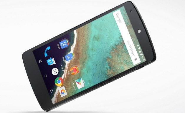 Nexus cinco con Lollipop