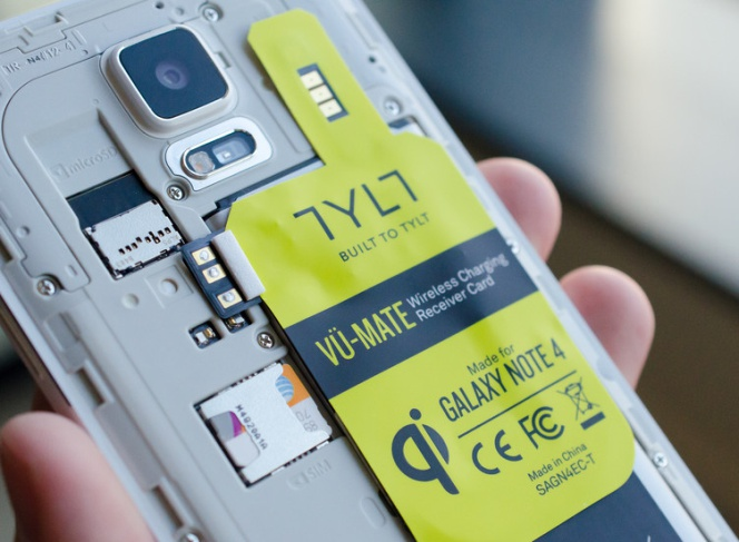 Las placas de carga inalambrica para equipos Samsung® no aumentan el grosor del teléfono