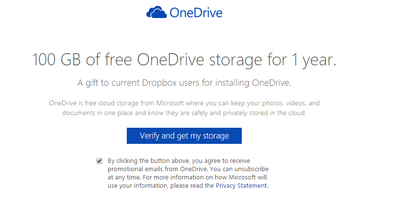 OneDrive 100 gb dropbox